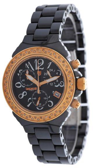 Lancaster Damen Armbanduhr Chronograph Ceramik Schwarz Ola0326nr - Nr Bild