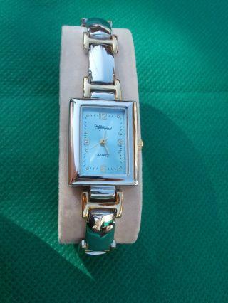 Neue Armbanduhr,  Silber/gold Mit Blauem Ziffernblatt,  Quartz Bild