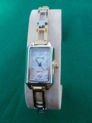 Neue Armbanduhr,  Silber/gold Mit Rosa Perlmutt Ziffernblatt,  Quartz Bild