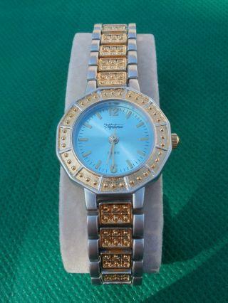 Neue Armbanduhr,  Hellblau/silber/gold,  Quartz Bild