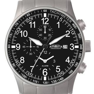 H1s,  40mm,  Astroavia,  Alarm Chronograph,  Pilotenuhr,  Military,  Pilot Watch Bild