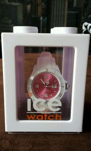 Ice Watch Weiss Pink Sili Unisex Modell Siwpus10 Bild