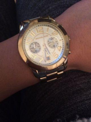 Chronograph Michael Kors Uhr,  Michael Kors Watch,  Edelstahl,  Gold,  Gelb Bild