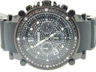 Uhr Herrenuhr Jojino/jojo/joe Rodeo Schwarz Diamanten Uhr 2.  25 Ct 47mm Ij - 1173 Bild