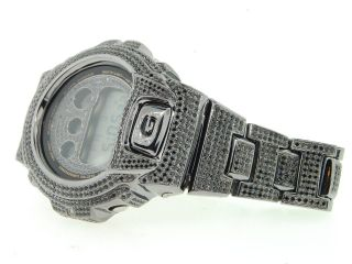 Armbanduhr G - Shock/g Shock 10 Karat Schwarz Simuliert Diamant Maßgefertigt Joe Bild