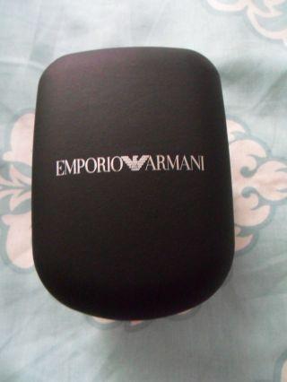 Armani Damenuhr Uhr Luxus Silber & Schwarz Kroko Mit Etui Bild