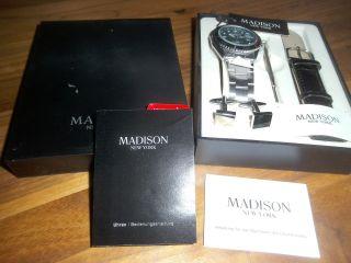 Madison York Armbanduhr 2 Bänder Originalverpackung Herren Bild
