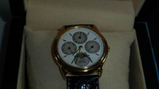 Piaget 18kt.  Gold Mondphase Triple Date Automatic Bild