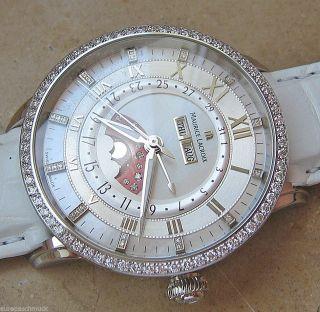 Mondphase Herren Maurice Lacroix Luxusuhr Damen Mit Diamanten Masterpiece Silber Bild