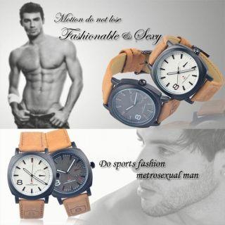 Curren No8 Armbanduhr - Edelstahl Mit Lederarmband - Präzessionsuhrwerk - Analog Bild