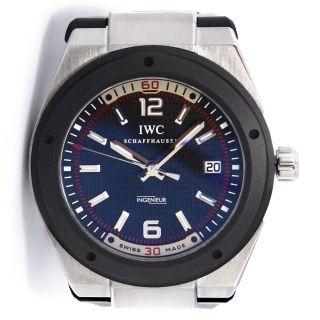 Iwc Ingenieur Automatic Uhr Aus Edelstahl - Schwarzes Zifferblat Kautschuk - Armband Bild
