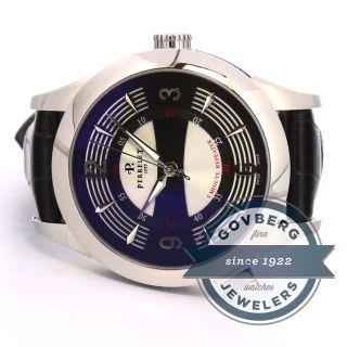 Perrelet Maestro Minutenrepetition Stahl Automatische Schwarzes Dial Uhr A1038/1 Bild