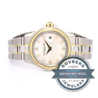Armbanduhr Raymond Weil Stahl 18kt Roségold Diamant Quarz 9460 - Sgs - 97081 Bild