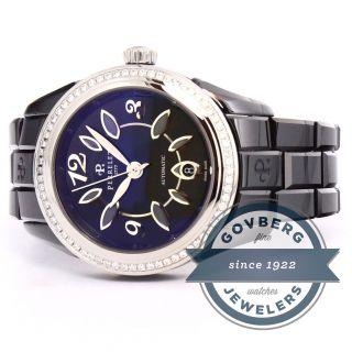 Armbanduhr Perrelet Classic Eve Damen Schwarze Keramik Auto Einfassung A2041/ba Bild