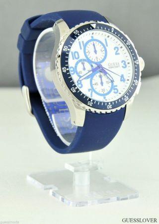 Uhr Uhren Guess Armbanduhr Unisex Herren Blau Gummi Quarz Deu Bild