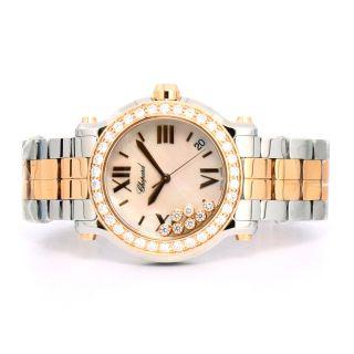 Armbanduhr Chopard Sport Stahl 18k Rosengold Quartz D.  Zifferblatt 278488 - 6001 Bild