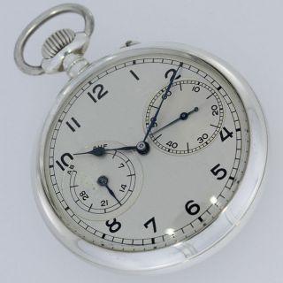 A.  Lange & SÖhne B - Uhr Ii Weltkrieg Ii Ww Auf/ab Zertifikat Taschenuhr Silber Bild
