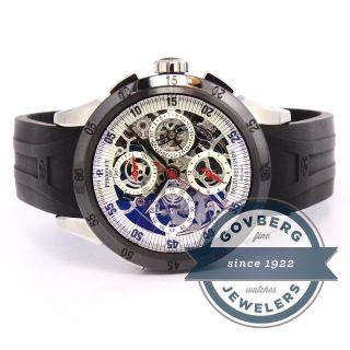 Perrelet Stoppuhr Uhr Armbanduhr Skelett Stahl Silber Ziffernblatt A1043/3a Bild
