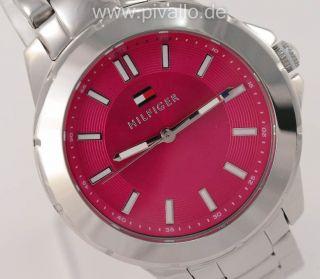Tommy Hilfiger Damenuhr / Damen Uhr Edelstahl Pink 1781436 Bild