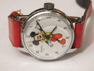 Micky Maus Kinderuhr Handaufzug Zentra Weihnachtsgeschenk Sammlerstück Selten Bild