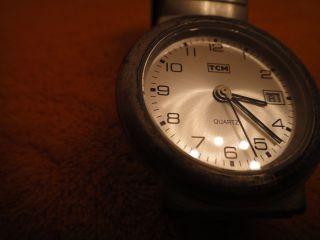 Armbanduhr Quarz Herren Sek.  - Zeiger Datum Wasserdicht,  Stainless Steel Bild