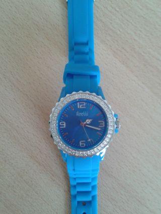 Firetti Damen Armbanduhr In Blau Mit Glaskristallen Bild