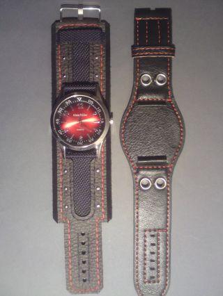 Alain Miller Armbanduhr Herren,  Breites Armband,  Armband Zum Wechseln Bild