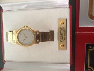 Cartier Santos Ronde Octagon 18 K / 750 Gold Mit Diamantbesatz Erstbesitz Bild