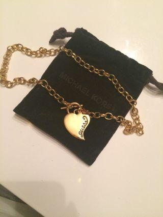 Guess Halskette,  Metall,  Vergoldet Np: 49€,  Im Michael Kors Säckchen Bild
