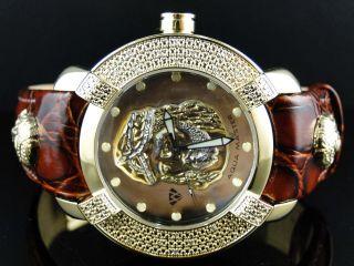 Männer Neue Aqua Master Jojo Joe Rodeo Techno Kc Kesus W 96 - Gelbe Diamant Uhr Bild