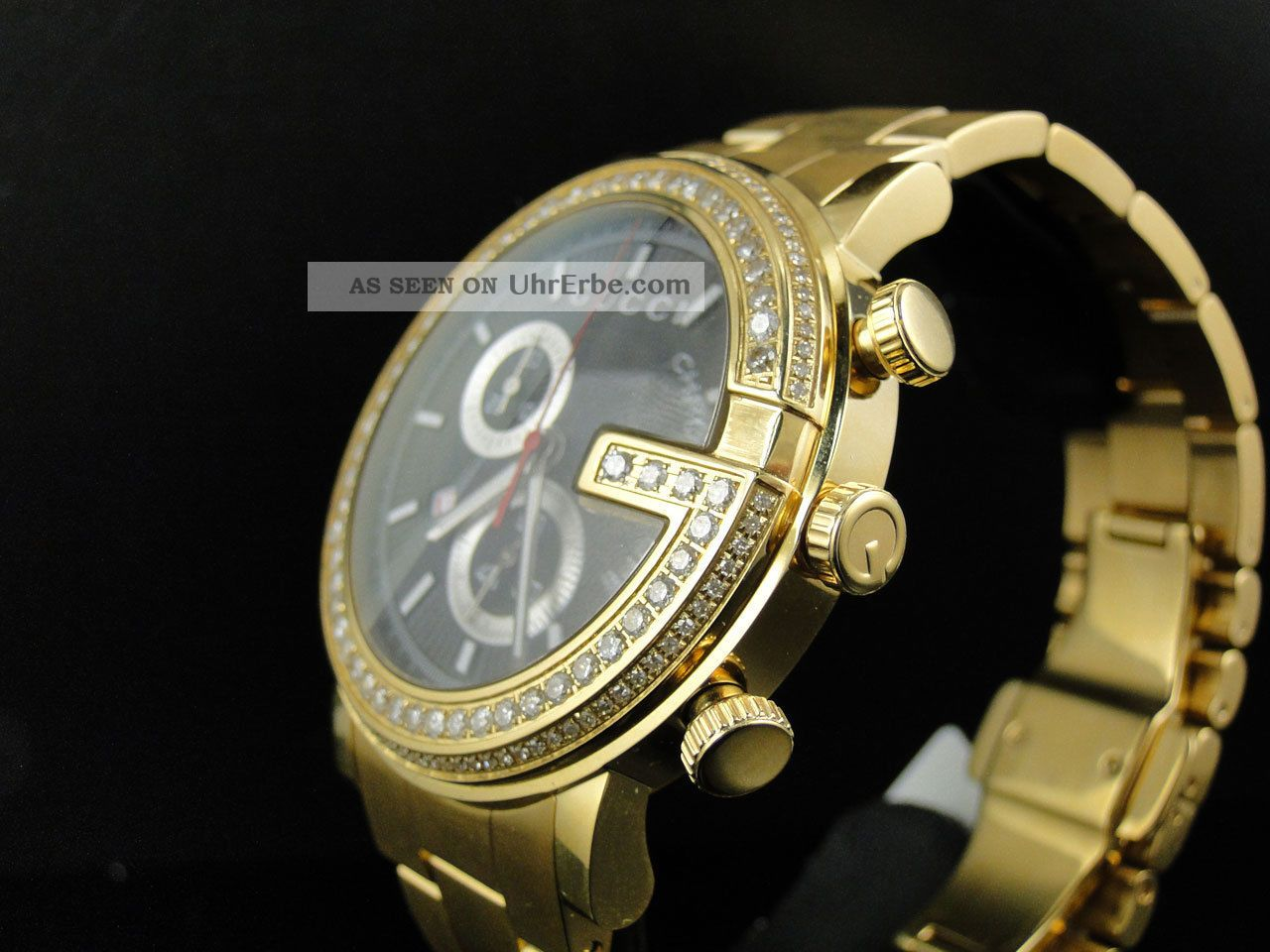herren armbanduhr gucci ya101334 3 25cm 101 g gold pvd. Black Bedroom Furniture Sets. Home Design Ideas