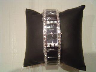 Dkny Armbanduhr Keramik Schwarz Swarovski Uhr Ny8409 Bild