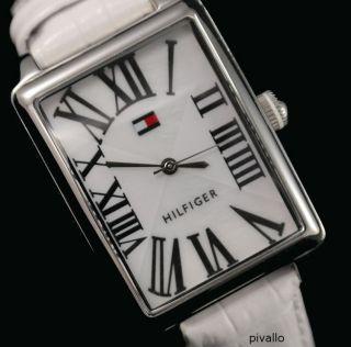 Tommy Hilfiger Damenuhr / Damen Uhr Leder Weiß Silber 1780976 Bild