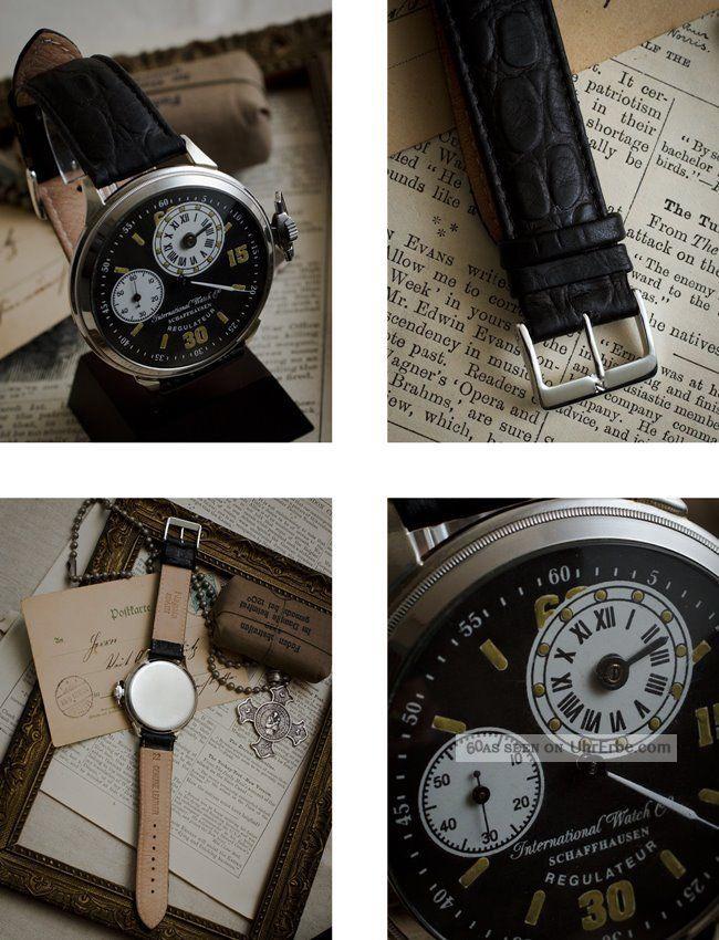 Iwc Schaffhausen 1909 Men ' S Wrist Watch Antique