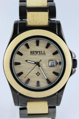 Bewell Holz - Edelstahluhr,  Herrenuhr,  Holzuhr,  Holz - Edelstahl,  Armbanduhr,  Neuware Bild