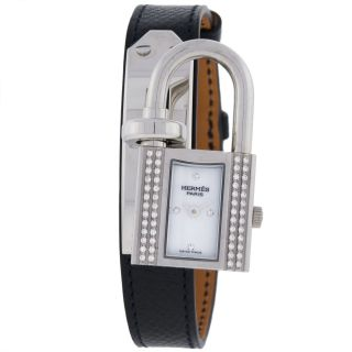 Armbanduhr Damen Hermes Ke1232212 Diamant Quartz Edelstahl Bild