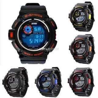 Digital Armbanduhr Sport Art Led Sportuhr Stoppuhr Wecker Wasserdicht Multi - Farb Bild