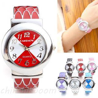 Elegant Damenuhr Armspange Armreif Legierung Armbanduhr Quarzuhr Armkette Mode Bild