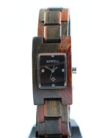 Bewell Holzuhr,  Damenuhr,  Sandelholz,  A - Ware,  Armbanduhr,  Top Geschenk Bild