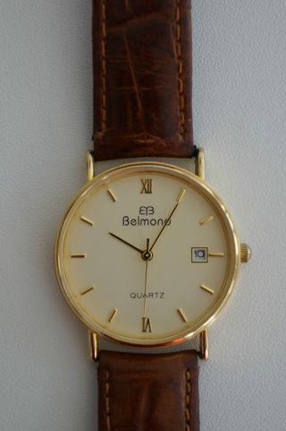 Belmond Herren - Armbanduhr,  24k Vergoldet Quartz Bild