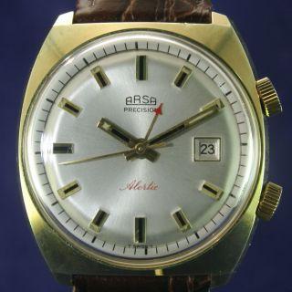 Arsa Vintage Armbandwecker Handaufzug Von 1968 Bild