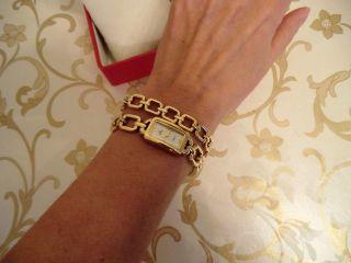 Damen Uhr Festina Armkettchen Vergoldet Perlmutt Bild