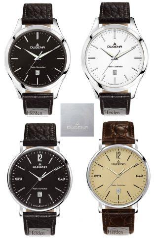 Dugena Funkuhr Uvp 139,  00€ Damen Herren Uhr Armband Leder Herrenuhr Funk Band Bild