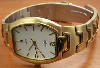Pallas 1260.  45.  91 Quartz Herrenuhr Vergoldet Metallband Uhr Bild