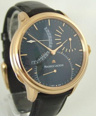 Maurice Lacroix Calendrier Retrograde Limited Edition,  750 Rosegold,  Box,  Papiere Bild