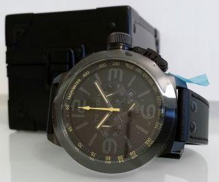 Tw Steel Tw 901 Canteen Cool Black Xxl Edelstahl Chronographen Uhr Ø 5,  0 Cm Bild