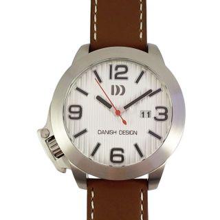 Danish Design Armbanduhr Uhr Edelstahl Groß Braun Lederarmband Männer 3314366 Bild