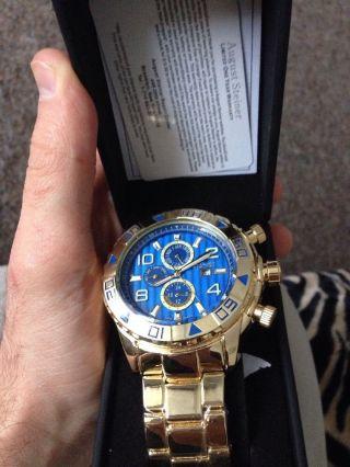 August Steiner As8130yg Männer Armbanduhr Gold Analog Quarz W14 - Kx8308 Bild