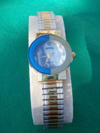 Neue Armbanduhr,  Blau/silber/gold,  Quartz Bild
