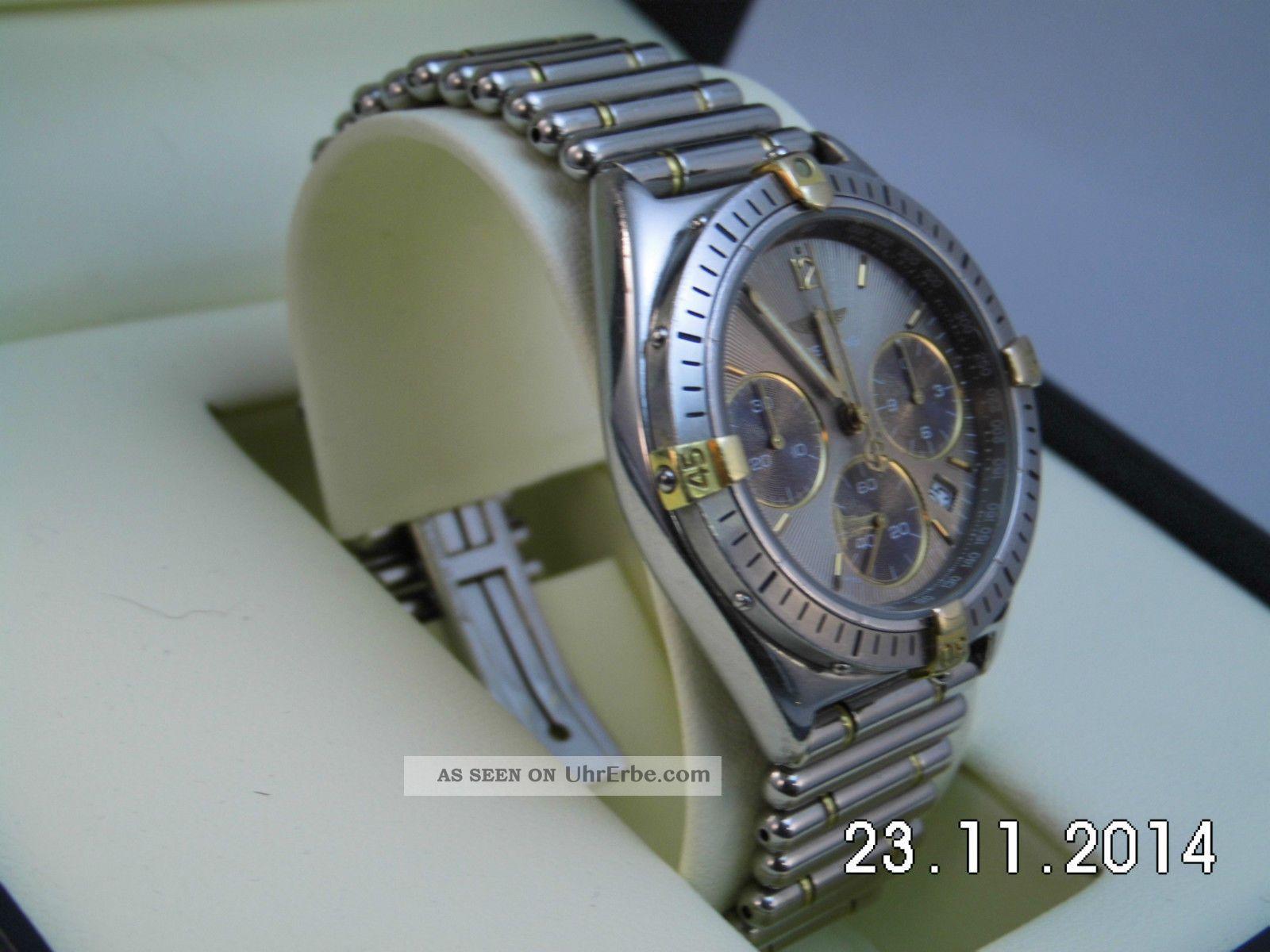 Seltene Breitling Chrono Colt Herrenuhr Unisex Damenuhr Ref.  B55045 Stahl / Gold Armbanduhren Bild
